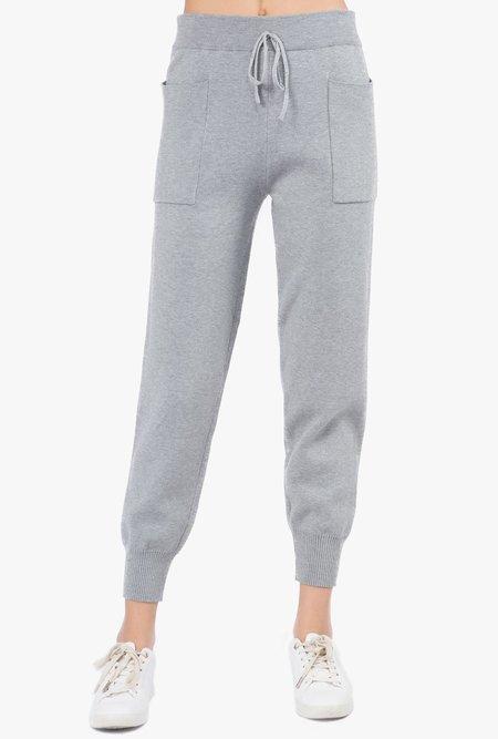 Azalea Ada Knit Joggers - gray