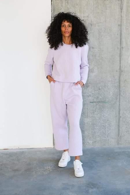 Ali Golden Quilted Sweatshirt - Lilac