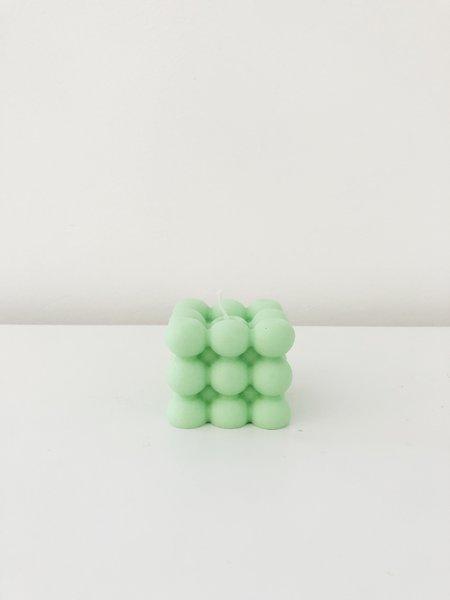 Ri-Ri-Ku Atom Cube Candle - Green