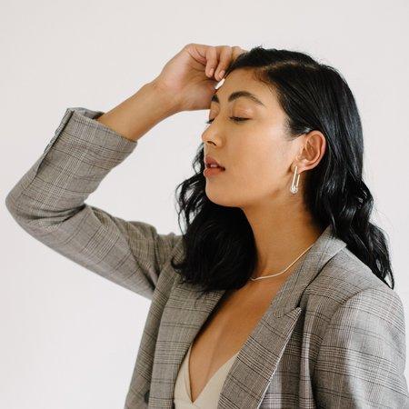 Kara Yoo Balance Earrings - Silver