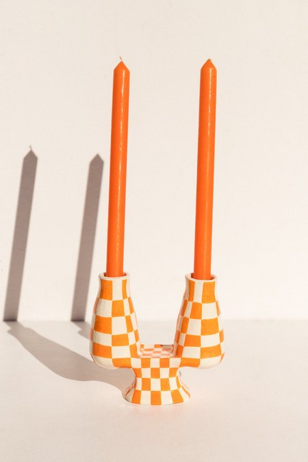 Capitalism is Disappearing Candelabra no. 413 - Orange