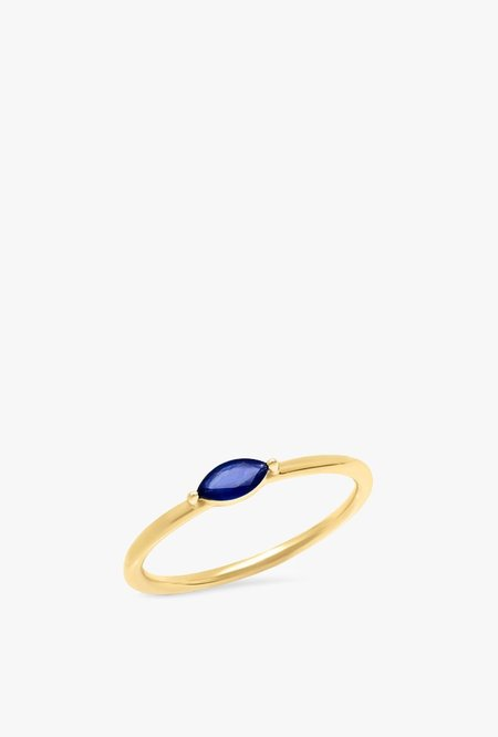 Eriness Blue Sapphire Marquise Ring