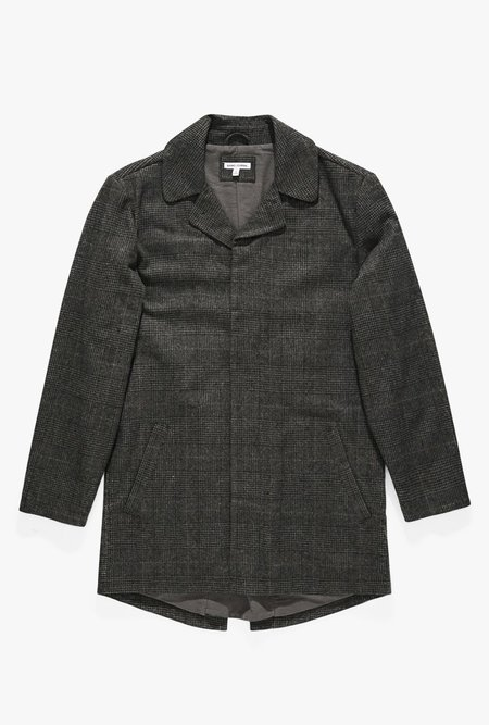 Banks Journal Brooklyn Plaid Trench Jacket - Dirty Black
