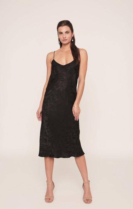 Merritt Charles Camelia Bias Slip Dress - Black Tropic