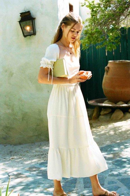 Merritt Charles Canyon Silk Dress - Pretty White