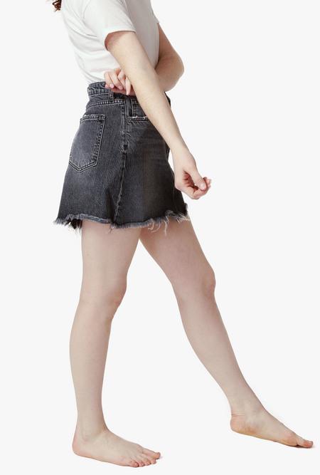 Triarchy Denim Skirt - Black
