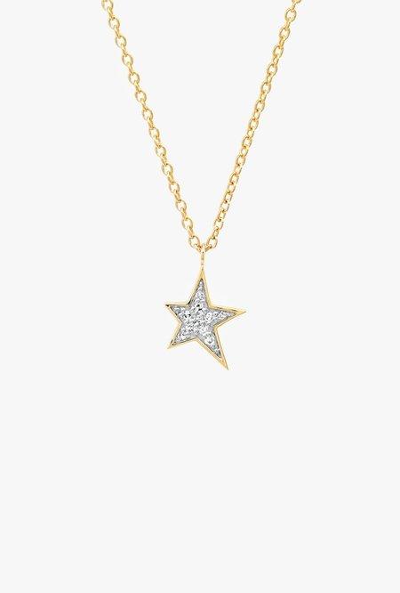 Eriness Diamond Star Charm Necklace