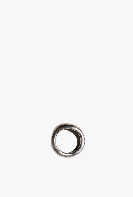 Unisex Swim To The Moon Eau Ring - Silver