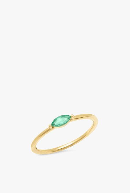 Eriness Emerald Marquise Ring - 14kYG