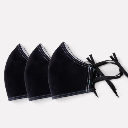 Moop 3 PACK Face Mask - ALL BLACK