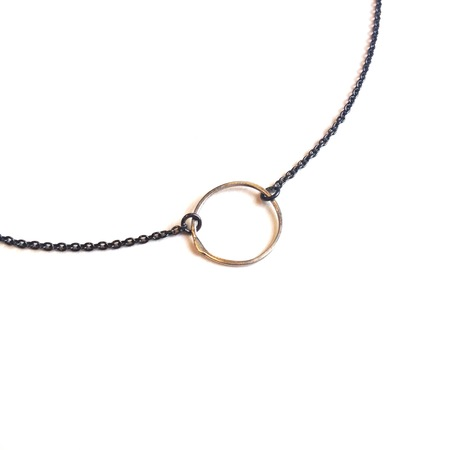 Gabrielle Desmarais 'Organic Circle' necklace with polished silver