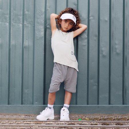 Kids Bash + Sass Hammer Shorties - Black/White Stripes
