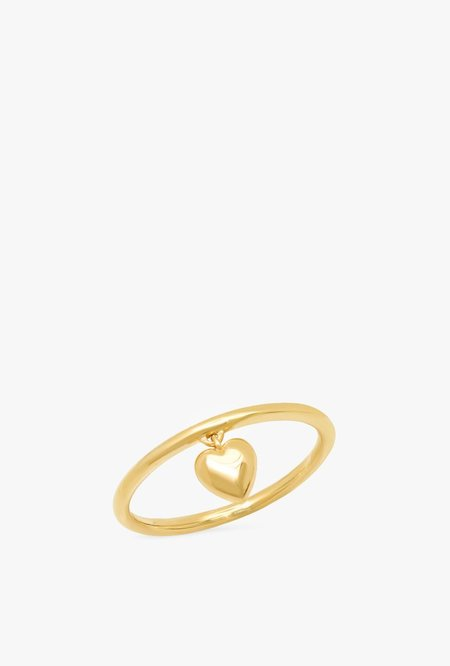 Eriness Hanging Heart Ring