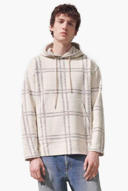 Closed Hooded Sweater - cream