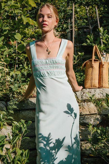 Merritt Charles Juliet SILK Dress - Mint