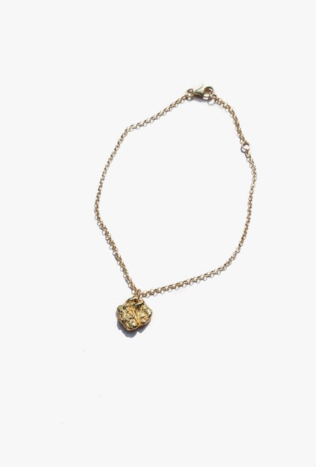 Swim To The Moon La Mer Anklet - 14k gold plated/silver