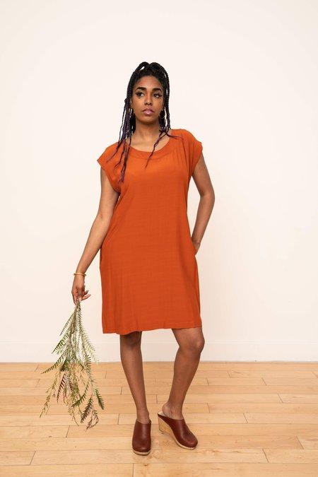 3rd Season Designs Laguna Shift Dress - Rust