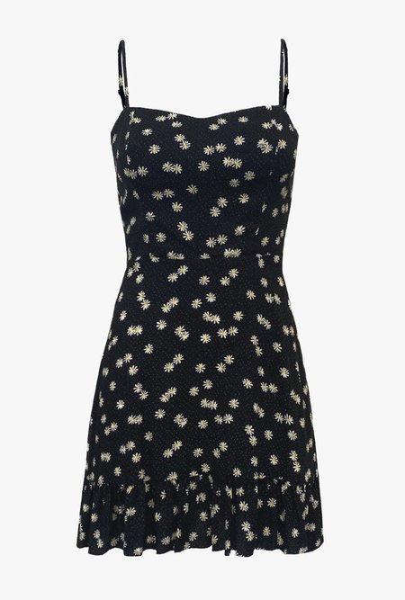 Azalea Lila Daisy Mini Dress - Black/Multi