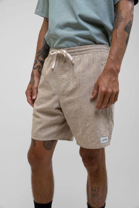 Rhythm Linen Stripe Jam shorts - Sand