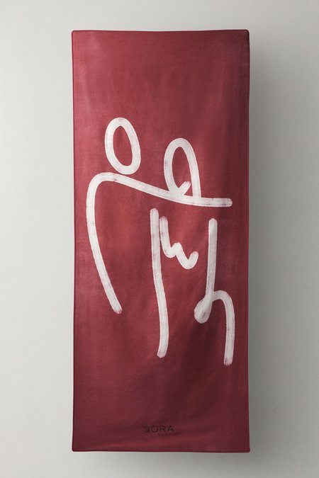 Sora Lovers Towel - red/white