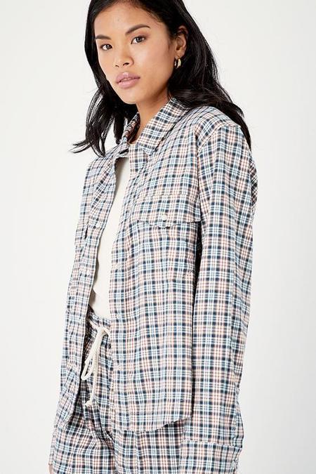 Back Beat Co. Organic Cotton Plaid Shirt Jacket - Blue Plaid