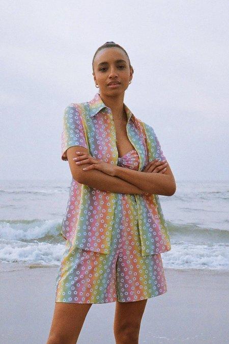 unisex Novel Swim Blossom Shorts - Rainbow