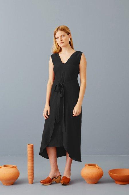 3rd Season Designs Riviera Wrap Dress - Black Tencel