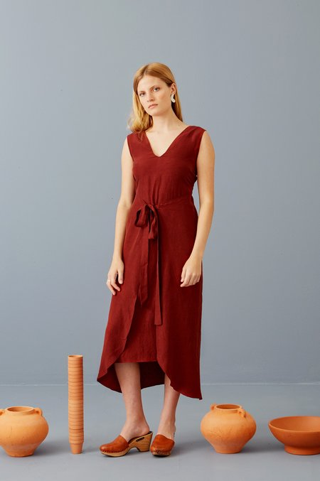 3rd Season Designs Riviera Wrap Dress - Marsala