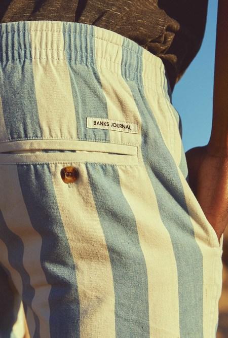 Banks Journal Sandon Stripe Walkshort - BLUE/WHITE