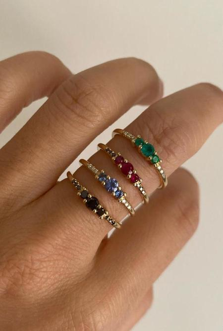 Jennie Kwon Designs Sapphire Trio Equilibrium Ring -