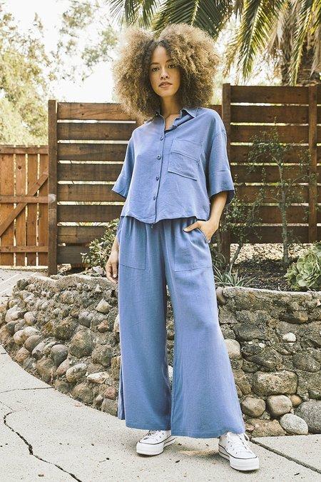 Back Beat Co. Seersucker Pajama Top - denim