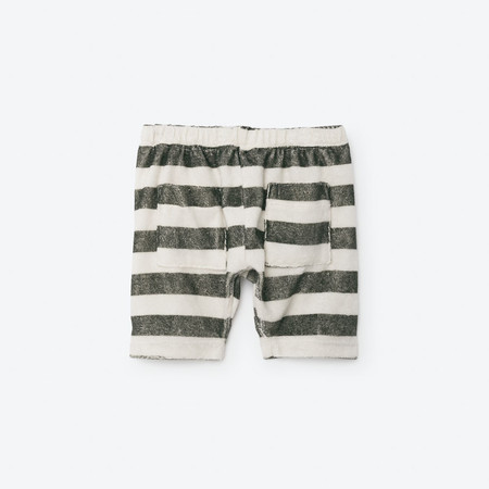 Kids The Animals Observatory Seal Baby Bermudas - Raw White Stripes