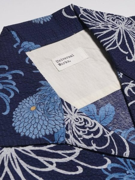 Universal Works Japanese Flower Shirt - Navy