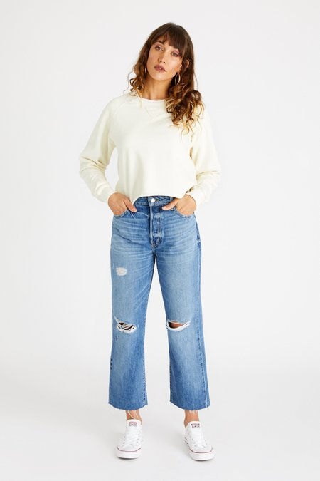 ética Tyler High Rise Ankle Jean - Fleetwood