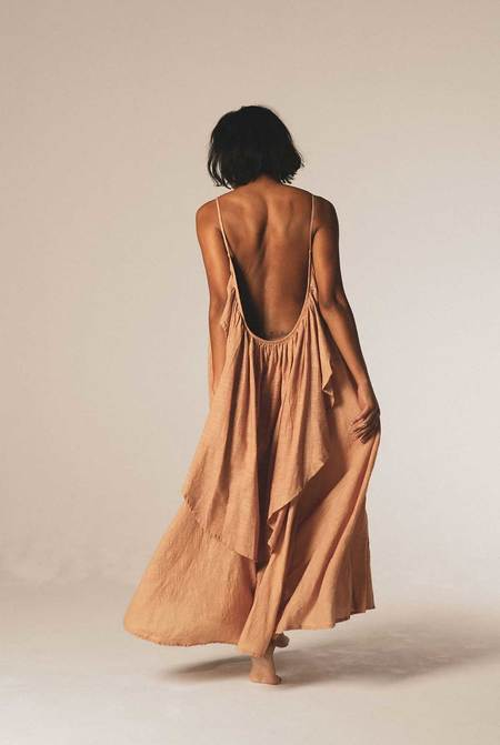A PERFECT NOMAD SYROS dress - Sandstone