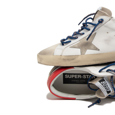 Golden Goose Super-Star Leather Upper Sneakers - Ice/Seedpearl