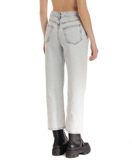 GANNI High Waist Crop Jeans - blue