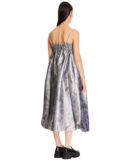GANNI Long Metallic Dress - gray
