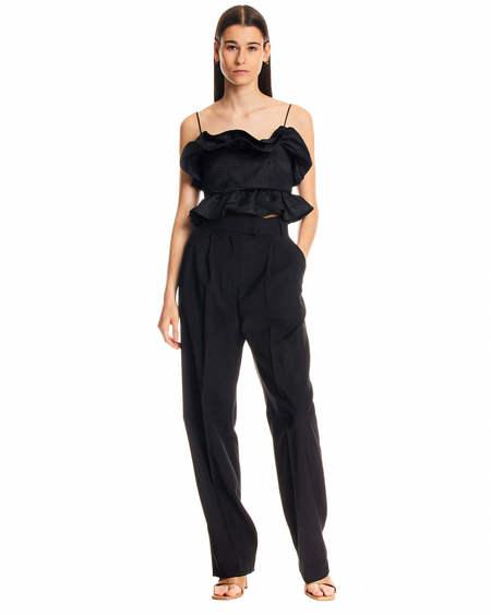 MSGM Rouches Top - Black