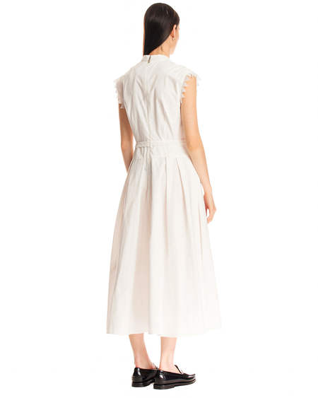MSGM Sleeveless Dress - White