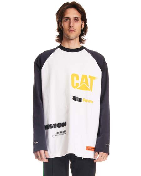 Heron Preston L/S Print T-shirt - White/blue