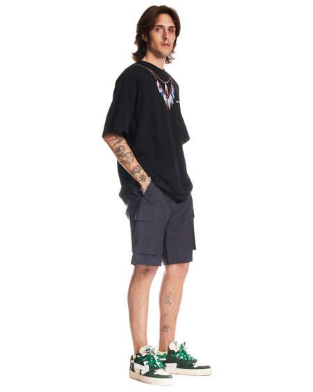 Marcelo Burlon Feather Print Crewneck T-shirt - black