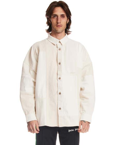 Ambush Patch Details Denim Shirt - white