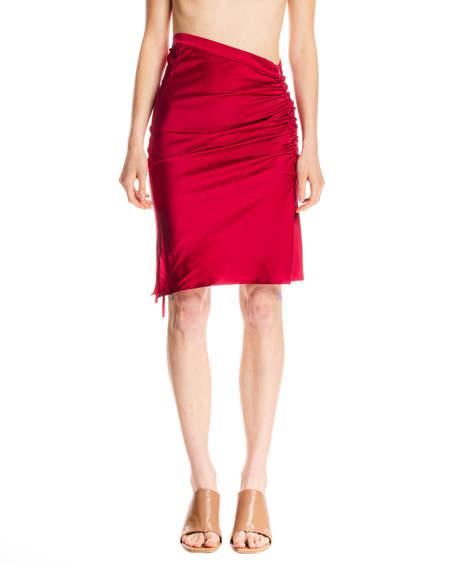GCDS Drawstring Skirt - Red