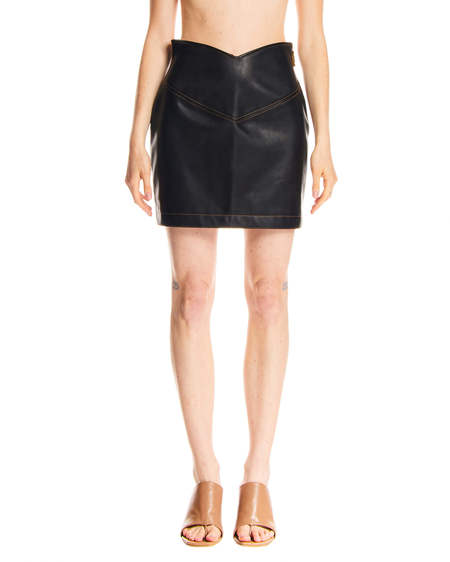GCDS Leather Skirt - Black