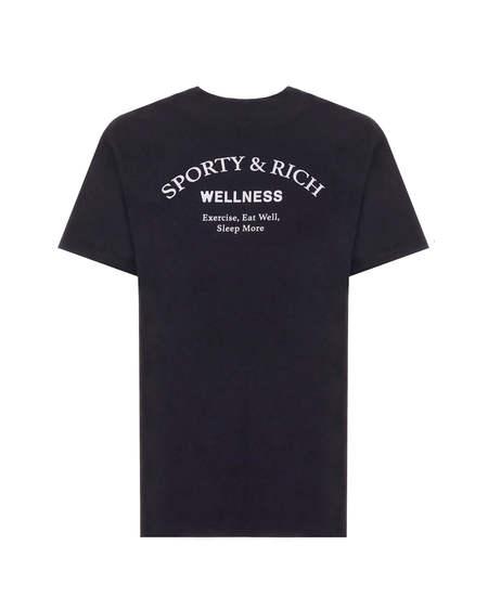 Sporty e Rich Logo T-shirt - Black