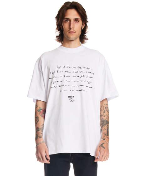 MSGM Text T-shirt - White