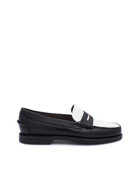 SEBAGO Medium Heel Moccasin - Black