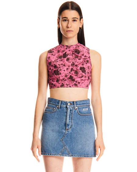 GANNI Floral Top - pink