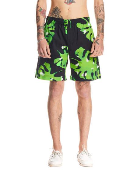 MSGM Shorts Trousers- Green Print